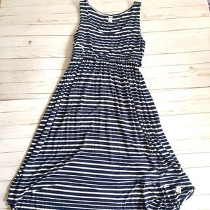 OLD NAVY Maternity Asymmetrical Blue & White Dress